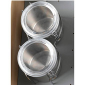 Rev-A-Shelf Chrome Drawer Canister Holder Set, Includes 2 S/S Canisters