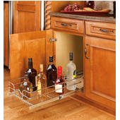 Rev-A-Shelf Single Kitchen Cabinet Pull-Out Wire Basket, Chrome, Available in Different Sizes