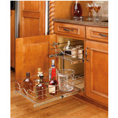 Rev-A-Shelf Pair of Kitchen Cabinet Pull-Out Basket, Chrome, Available in Numerous Sizes