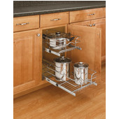 Rev-A-Shelf Pair of Kitchen Cabinet Pull-Out Baskets, Chrome, Different Sizes Available