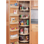 Rev-A-Shelf ''Traditional'' Kitchen Pantry Cabinet Lazy Susan 5 Tray Set, 20'' Dia., Almond
