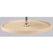 Rev-A-Shelf ''Traditional'' Full Circle Single Shelf Polymer Lazy Susan in Almond, Post Sold Separately, 16'' - 32'' Diameters Available