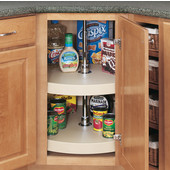 Rev-A-Shelf ''Traditional'' 16'' Diameter Full Circle Independently Rotating 2-Shelf Polymer Lazy Susan in Almond
