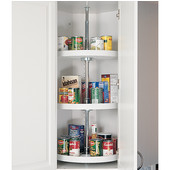 Rev-A-Shelf ''Traditional'' Pantry Cabinet Independently Rotating Full Circle 3-Shelf Polymer Lazy Susan in White or Almond, 18'' - 20'' Diameters Available