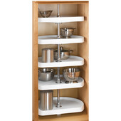 Rev-A-Shelf ''Traditional'' 22'' Diameter 5-Tray D-Shape Almond Kitchen Pantry Lazy Susan