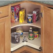 Rev-A-Shelf ''Traditional'' Kidney Shaped Single Shelf Polymer Lazy Susan in Almond, 18'' - 32'' Diameters Available