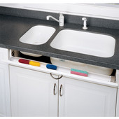 Rev-A-Shelf 36'' Sink Tray with Soft Close Hinge, White or Almond