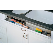 Rev-A-Shelf 36'' Sink Front Tray with Hinges & End Caps, Almond, Multiple Options