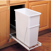 Rev-A-Shelf Single Pull-Out Waste Container With 3/4 or Full Extension Slides, Min. Cabinet Opening: 9-5/8''  Wide