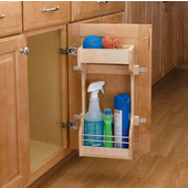 Rev-A-Shelf Wood Door Storage Organizer for Sink Base Cabinets, 30'' - 42'', Min Cab Opening: 10-5/8''W x 5-1/4''D x 18-5/8''H