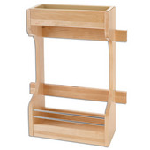 Rev-A-Shelf Wood Door Storage Organizer for 36'' Sink Base Cabinets, Min Cab Opening: 13-5/8''W x 5-1/4''D x 18-5/8''H