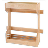 Rev-A-Shelf Wood Door Storage Organizer for 42'' Sink Base Cabinets, Min Cab Opening: 16-5/8''W x 5-1/4''D x 18-5/8''H