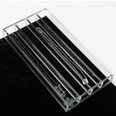Rev-A-Shelf Clear Acrylic Necklace Jewelry Organizer, 11-5/8''W x 6''D x 1-1/4''H