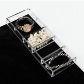 Rev-A-Shelf Clear Acrylic Watch/ Bracelet Jewelry Organizer, 11-5/8''W x 4-1/4''D x 1-1/4''H