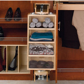 Rev-A-Shelf Pivoting Armoire Storage Organizer with Mirror for Closet