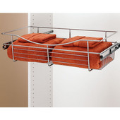 Rev-A-Shelf Closet or Kitchen Cabinet Heavy-Gauge Pull-Out Wire Basket, Chrome, 12''D x 7''H - Also Available in Other Sizes