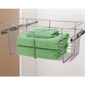 Rev-A-Shelf Closet or Kitchen Cabinet Heavy-Gauge Pull-Out Wire Basket, Chrome, 12''D x 11''H - Also Available in Other Sizes