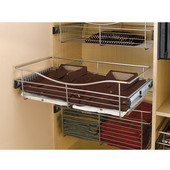 Rev-A-Shelf Closet or Kitchen Cabinet Pull-Out Wire Basket, Chrome, 16''D x 7''H - Also Available in Other Sizes