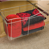 Rev-A-Shelf Closet or Kitchen Cabinet Pull-Out Wire Basket, Chrome, 16''D x 18''H - Also Available in Other Sizes