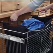Rev-A-Shelf Closet Hamper Bag Insert for CB Series CB-241418 Pull Out Wire Baskets in Black Canvas, 21-1/2'' W x 12-3/16'' D x 14-7/16'' H, Single Pack, Available in Multiple Options