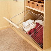 Rev-A-Shelf Tilt-Out Wire Clothes Hamper for Laundry, Bathroom or Closet, Chrome, Different Widths Available
