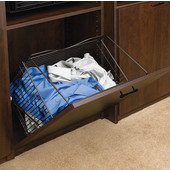 Rev-A-Shelf Tilt-Out Wire Clothes Hamper for Laundry, Bathroom or Closet, Oil Rubbed Bronze, Different Widths Available