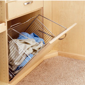 Rev-A-Shelf Tilt-Out Wire Clothes Hamper for Laundry, Bathroom or Closet, Satin Nickel, Different Widths Available