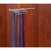 Rev-A-Shelf Closet Tie or Scarf Organizer, Chrome, Other Depths Available