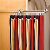 Rev-A-Shelf Closet Tie or Scarf Organizer, Chrome, Other Depths Available