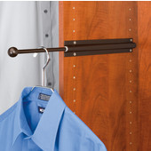Rev-A-Shelf Standard Telescopic Side Mount Valet Rod, Oil Rubbed Bronze
