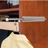 Rev-A-Shelf Standard Telescopic Side Mount Valet Rod, Satin Nickel