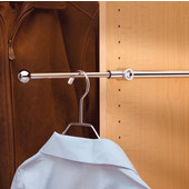 Rev-A-Shelf Valet Rod, Chrome, Available in Multiple Sizes