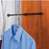 Rev-A-Shelf Valet Rod, Oil Rubbed Bronze, Available in Multiple Sizes