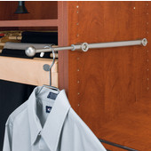 Rev-A-Shelf Valet Rod, Satin Nickel, Available in Multiple Sizes