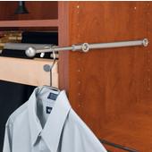 Rev-A-Shelf Valet Rod, Satin Nickel, Available in Multiple Sizes