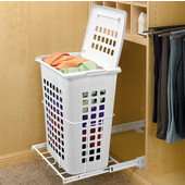 Rev-A-Shelf Bottom Mounted Large Pull-Out Hamper with Lid for Closet or Vanity
