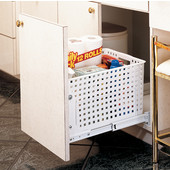 Rev-A-Shelf Pull-Out Laundry Hamper and Utility Basket for Kitchen or Vanity, Min Cab Opening: 14-1/2'' W x 18-3/8'' D x 12'' H