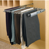 Rev-A-Shelf Closet or Wardrobe Chrome Pull-Out Pants Rack, Available in Numerous Sizes