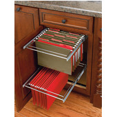 Rev-A-Shelf - Two-Tier Pull-Out File Drawer System in Silver, for Kitchen or Desk Cabinet, Min Cab Opening: 14-1/2'' W x 19-3/4'' D x 20-1/2'' H