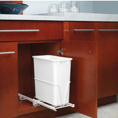 Rev-A-Shelf Dual Configuration 20 Quart (5 Gallon) Pullout Waste Container, Min. Cabinet Opening: 8-5/8''  Wide