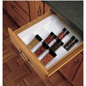 Rev-A-Shelf Cabinet Spice Drawer Insert, Glossy White