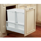 Rev-A-Shelf Double Waste Container with Blum's TANDEM Smooth Running Action and BLUMOTION Soft Close for 18'' or 21'' Cabinet
