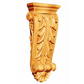 Medium Acanthus with Shell Corbel, Lindenwood