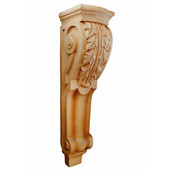 Fluted Acanthus Corbel, Available in Multiple Sizes and Wood Species