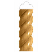 # CM2435-MA, Large Rope Half Lineal, 2''W x 1''D x 96''H, Maple