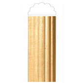 # CM2438-MA, Large Reeded Half Lineal, 2''W x 1''D x 96''H, Maple