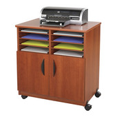 Mobile Machine Stand with Sorter, Cherry, 28''W x 19-3/4''D x 30-1/2''H