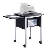 Machine Stand with Slide-Away Shelf, Black, 23''W x 19-1/2''D x 28-1/2''H