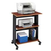 Muv Adjustable Printer Stand, Three Level, Cherry, 29-1/2''W x 20''D x 35''H