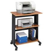 Muv Adjustable Printer Stand, Three Level, Medium Oak, 29-1/2''W x 20''D x 35''H